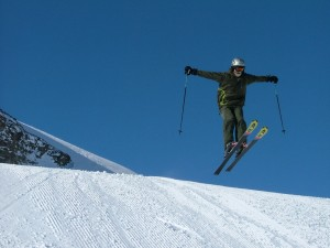 Rob taking some air on the slopes