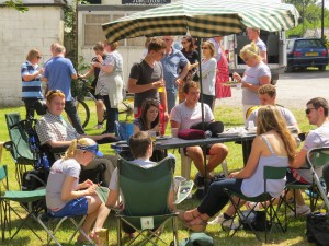 Rob, Kirsty and friends at the BBQ