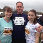 Running for two causes close to our hearts! Cammpaign4Rob and Breast Cancer UK From the left: Jackie, Mark and Lizzie