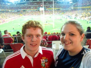 1st Test in Brisbane with Ash - come on the Lions!