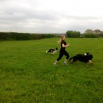 Rebeccas with her four legged training pals