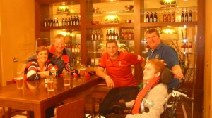 Prematch drinks at the Marriott