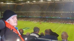 Enjoying the match