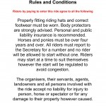 Rules and Conditions