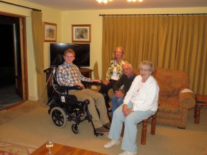 At Damesdown with Anne, Peter and Granny