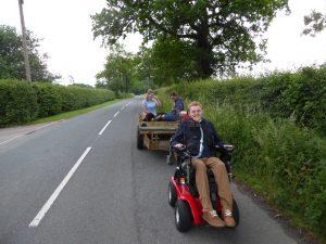 The carers take a ride home