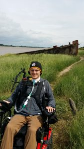 Out along the severn banks by the concrete barge graveyard at Purton