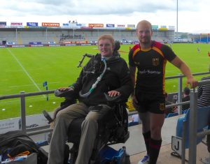 Rob meets up with school rugby team mate Robin at the home of Exeter Chiefs.